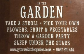 Pythouse Kitchen Garden Sign