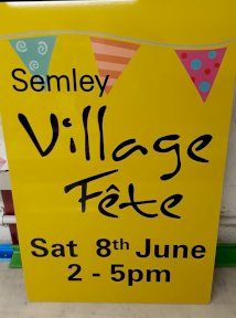 Semley Village Fete Sign