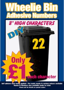 Wheelie Bin Signs Printed