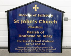 Salisbury St Johns Church Sign