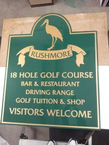 Rushmore Golf Sign