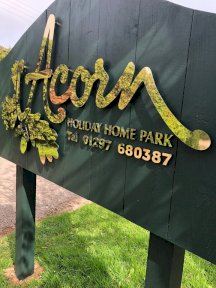 Acorn Holiday Homes Sign
